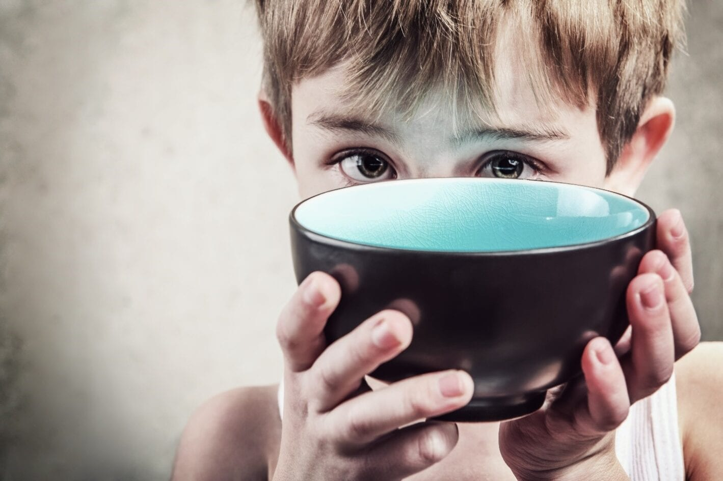 Kid with bowl